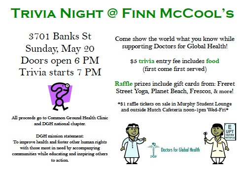 Trivia NIght Fundraiser in New Orleans